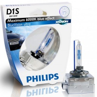 Автолампа ксеноновая PHILIPS D1S XENON BLUEVISION ULTRA 35W